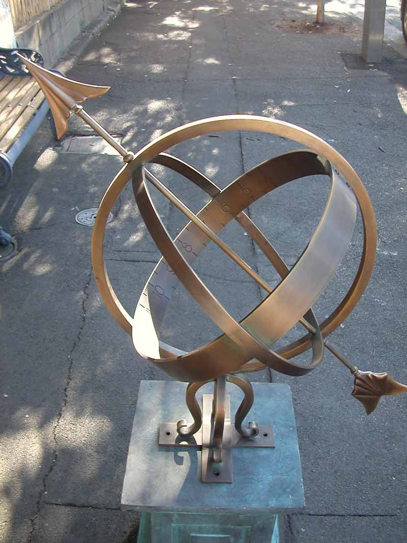 ARMILLARY SPHERE ON PLINTH