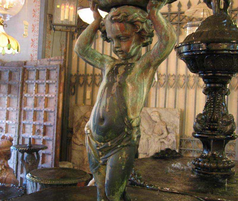 French cherub fountain