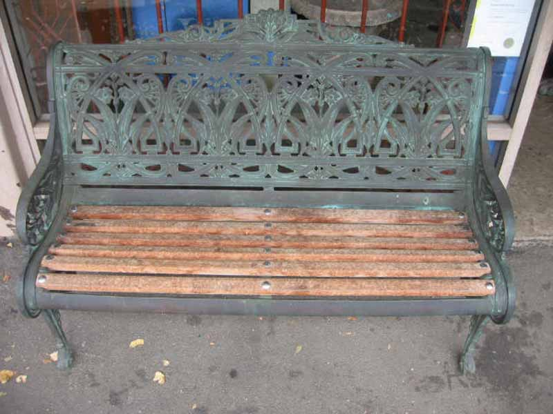 FINCH BENCH SOLID LIVER FINISH