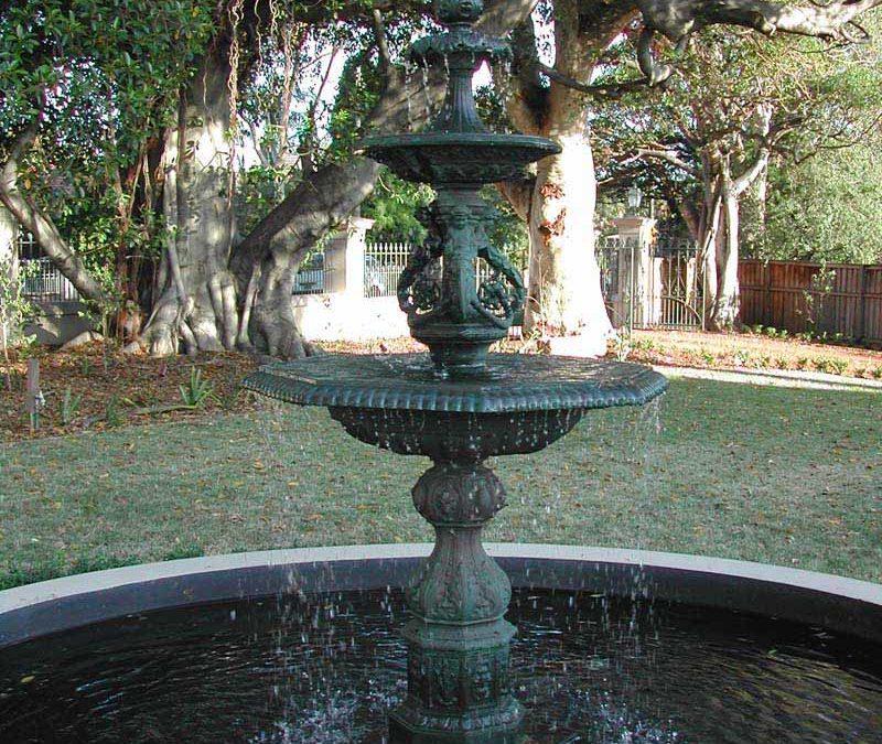 French cherub base with Irish fountain top