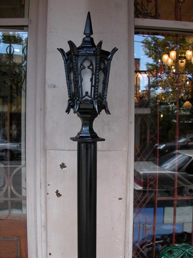 GOTHIC LANTERN ON AGL POST
