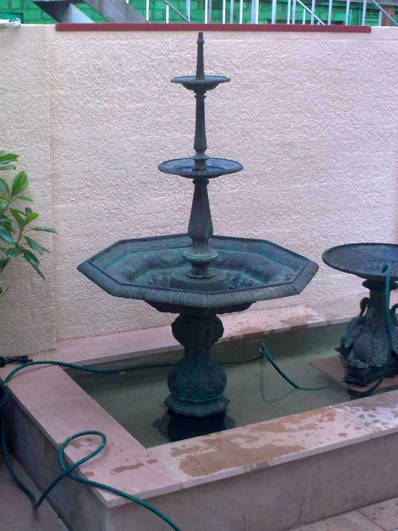IRISH FOUNTAIN BASE WITH TWO UPPER TIERS
