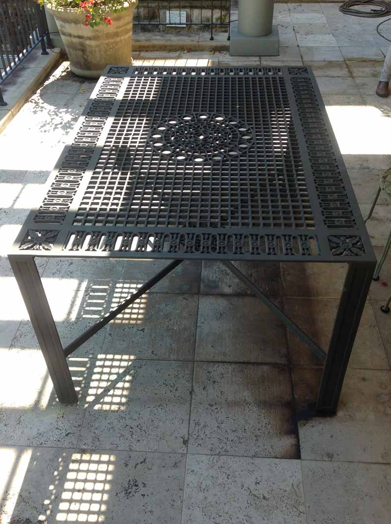 Bronze New York Subway Grate Table