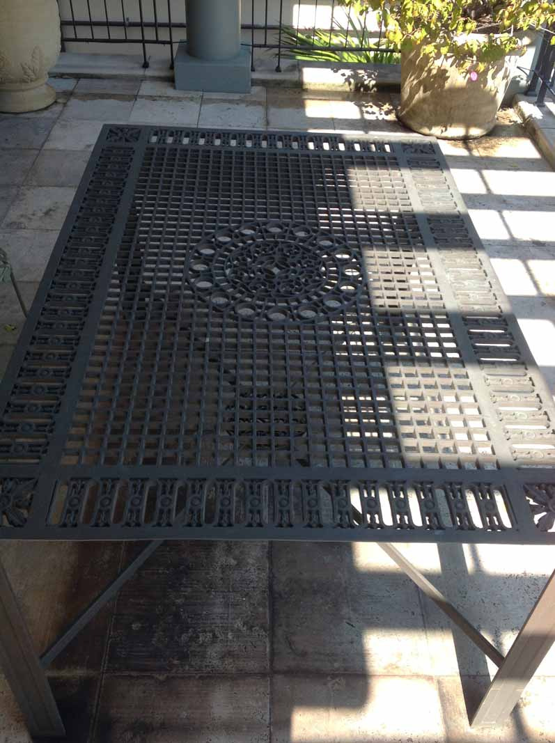 NEW YORK SUBWAY GRATE TABLE