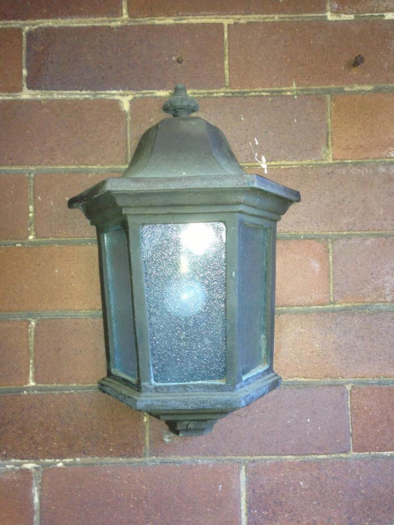 WALL MOUNT SMALL FRENCH GASOLIER VENT LIGHT