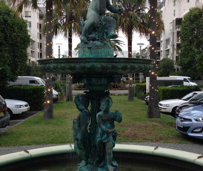 Winged Erote & Three Muses Fountain